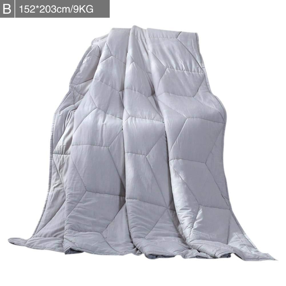 PUERI 毛布 綿重力加重毛布 不安障害 自閉症 睡眠援助圧力 減圧毛布 不眠重力 子供大人毛布 7ポンド/ 10ポンド/ 15ポンド/ 20ポンド B07SDRPQ97  B款152*203cm/9KG