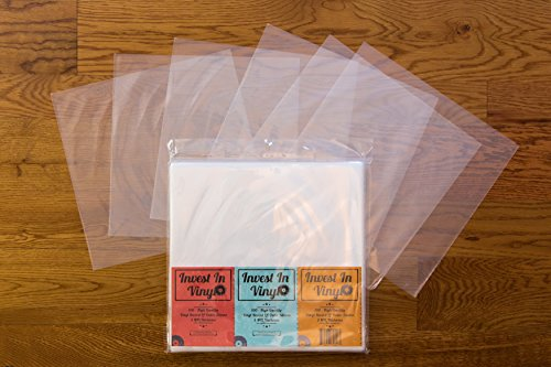 Invest In Vinyl 100 Clear Plastic Protective Lp Outer Sleeves Import It