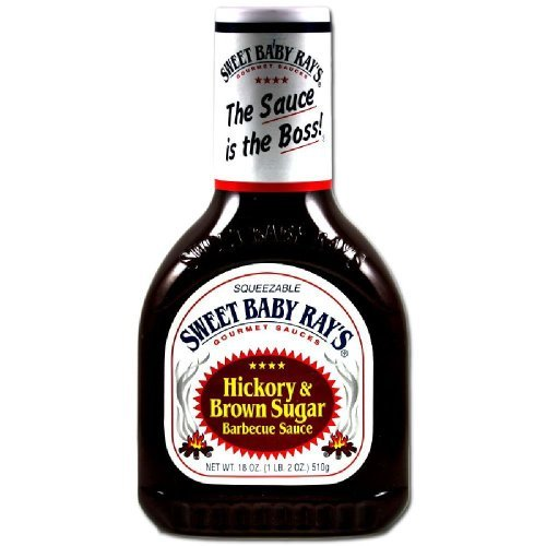 Sweet Baby Ray's Barbecue Sauce - Hickory & Brown Sugar - Net Wt. 18 OZ (510 g) Each - Pack of 2