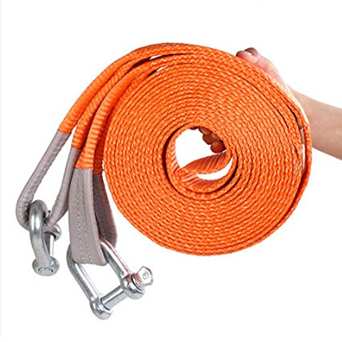 JIC PRODUCTS® CAR TOWING BELT 50MM X 4MTR LONG HEAVY DUTY STRAP WITH TWO HEAVY D CLAMPS FOR VEHICLE TOWING (ORANGE/RED/BLUE/YELLOW) Price & Reviews