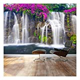 wall26 - Self-Adhesive Wallpaper Large Wall Mural Series (66''x96'', Lush Waterfall)