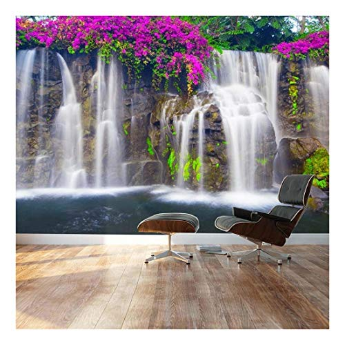 wall26 - Self-Adhesive Wallpaper Large Wall Mural Series (66''x96'', Lush Waterfall) by wall26 (Image #6)