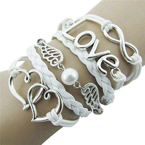 Susenstone Style Jewelry fashion Leather Cute Infinity Charm - Fashion Bracelets Under $5