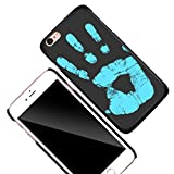 KOSBON Thermal Sensor Phone Case Heat Induction Color Changing Holster Ultra-thin Hard PC Anti-scratch Cover Protective Shell for for IPhone (Black to Blue, For iPhone 7 Plus 5.5')
