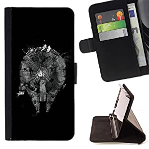 DEVIL CASE - FOR LG Nexus 5 D820 D821 - cool abstract black monochrome plan - Style PU Leather Case Wallet Flip Stand Flap Closure Cover