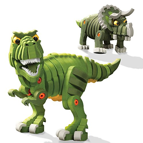 Bloco Toys T-Rex and Triceratops Building Kit Toy