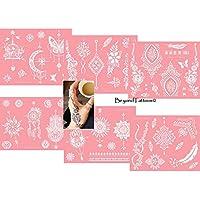 Actie - micro-net tattoo sjablonen herbruikbaar 6 vellen set roze