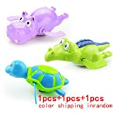 Sealive Cool Carton Water Animals Design Baby Pool Bath Toys,Wind Up Turtles&Crocodile Clockwork Play Swimming Alligator for Kid Educational Toys Infant baby Gift(3pcs)