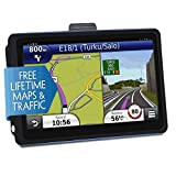 Car GPS Navigation, 7 inch Touch Screen + 8GB Voice Prompt GPS Navigation for Car with Lifetime Maps and Built-in Multi-Media and FM