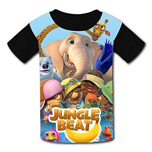 Jungle Man Costume Ideas (Hevilcat Jungle_Beat T-shirts for Kids Tee Shirt Tops Short Sleeve Costume XS)