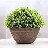 Supla 1pcs big 8.5 x 11 inch Artificial Topiary Plant Top Plant in Planter Plastic potted plant with pot Plants in Weathered Pot Artificial Topiary Tree Ball Plants Pot