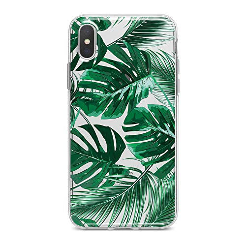 Lex Altern TPU iPhone Apple Cases X 8 Plus 7 6s 6 SE 5s 5 Green Clear Leaves Phone Tropical Leaf Plant Printed Protective Monstera Pattern Cover Girls Max Xs -