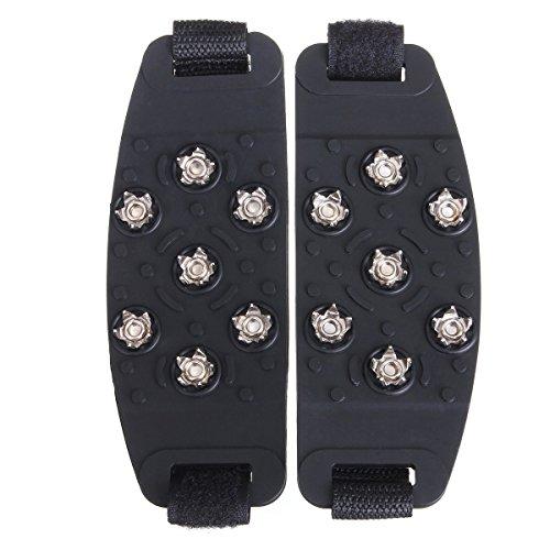 Primi escalada al aire libre 7-Stud tacos crampones pinza hielo zapato Cover (negro)