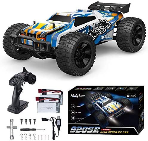Holyton Remote Control Car 1:12 Scale RC Cars 45 KM/H High Speed 40min Play for Adults and Kids, four wheel drive Driving 2.4GHz Off Road Monster Truck Waterproof Vehicle, Toys Gifts for Boys 2 Batteries