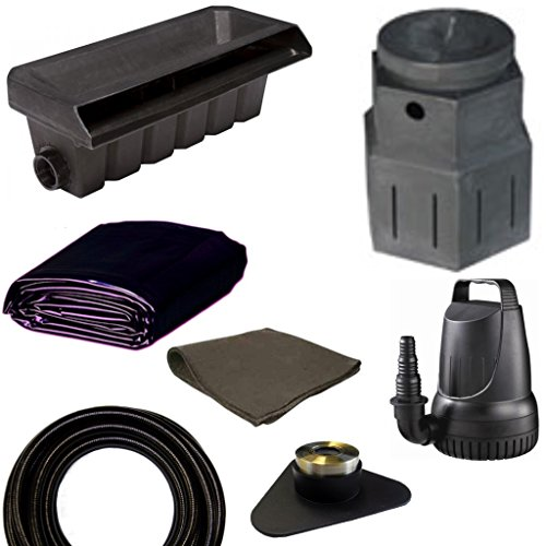 10' x 10' Small Pondless Waterfall Kit, Pondbuilder PB1762 20'' Waterall & PB1366 Mini Pump Canyon, 3,300 GPH Pump - PSP6 by Patriot