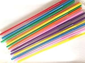 CJESLNA Colorful Extra Long Flexible Bendy Party Disposabl Drinking Straws 100 pcs
