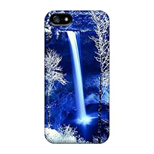 Bumper Hard Phone Cover For Apple Iphone 5/5s With Provide Private Custom Beautiful Winter Forest Falls Skin ErleneRobinson