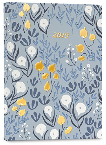 High Note® 2019 Garden Bee Floral Weekly Planner 18-Month Engagement Calendar Academic Organizer- July 2018 to December 2019, 5.75