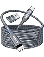USB C to Iightning Cable 10ft, AkoaDa iPhone 12 Charger Cable Iightning to USB C Cable, Nylon Braided Type C to Iightning Cable Compatible with iPhone 12 11 Mini Pro Max, X XS XR SE 2020, Airpods Pro