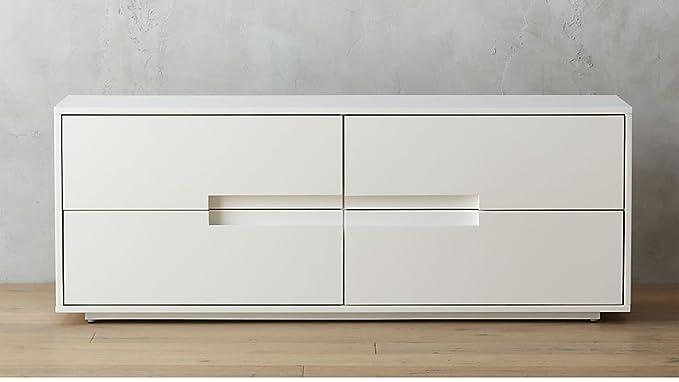 Aprodz Mango Wood Corta Sideboard Storage Dresser for Living Room | White Finish