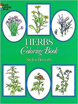 herbs coloring book dover nature coloring book amazoncouk stefen bernath 9780486234991 books - Nature Coloring Book