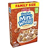Kellogg's Breakfast Cereal, Frosted Mini-Wheats,Maple Brown Sugar, Low Fat, Excellent Source of Fiber, Family Size, 21 oz Box(Pack of 4)
