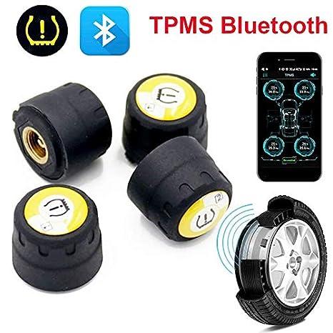Bluetooth TPMS Auto Pneumatico Pressione Monitoraggio Sistema Con 4 Sensori