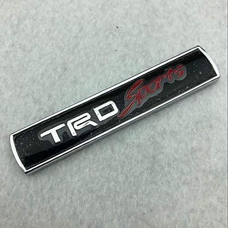 Csfssd TRD coche en el coche est/ándar personalizado modificado lado met/álico est/ándar de red est/ándar TRDsports Reiz Color : TRD Silver