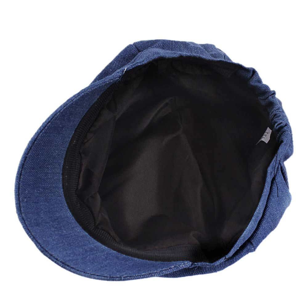 Opromo Women's Washed Denim Newsboy Gatsby Cabbie Hat Jean Berets Octagonal Cap-Denim Blue-48PCS by Opromo (Image #4)