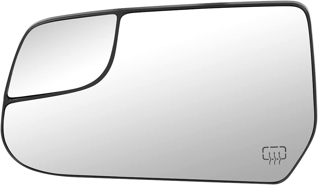22906957 OE Style Driver/Left Heated Mirror Glass Lens w/Spotter Replacement for Chevy Equinox GMC Terrain 10-17