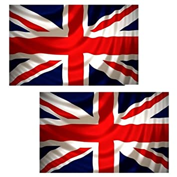 80fdbab80 TWIN (2) PACK OF UNION JACK 5FT x 3FT GREAT BRITAIN FLAGS  Amazon.co.uk   Sports   Outdoors