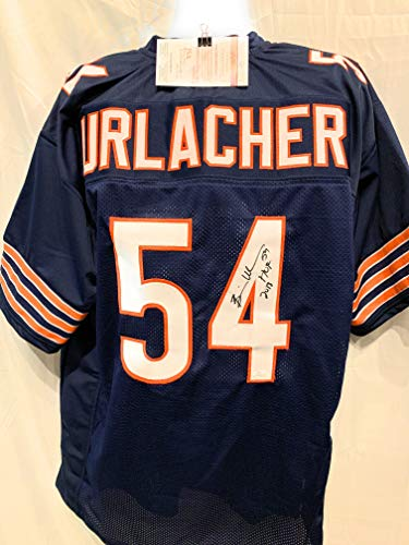 Brian Urlacher Chicago Bears Signed Autograph Blue Custom Jersey HOF Inscribed JSA Witnessed Certified ()