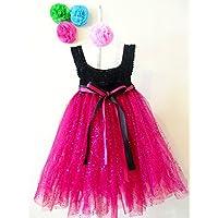 Vestido de Crochet con Tul para Niña Bebé Talla 18 - 24 Meses
