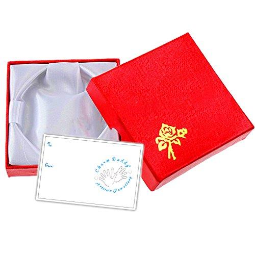 Filles 7e anniversaire Paillette Bracelet à breloques avec boîte cadeau et carte enfants Bijoux