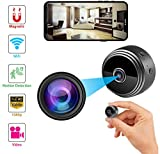 Mini Spy Hidden Wireless Camera with WiFi - Audio Recorder 1080P - Wide-Angle Secret Small HD Nanny Cam - Night Vision, Motion Detector - Infrared Indoor Security Camera for Home,Office