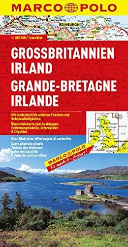 MARCO POLO Länderkarte Großbritannien, Irland 1:800.000 (MARCO POLO Länderkarten)