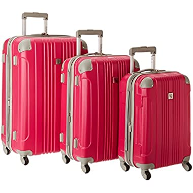 Traveler's Choice Beverly Hills Country Club Newport 3-Piece Hardside Spinner Set, Magenta