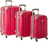 Beverly Hills Country Club Newport 3-Piece Hardside Spinner Luggage Set - Magenta ( 21-Inch , 24-Inch and 28-Inch )
