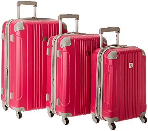 Beverly Hills Country Club Newport 3-Piece Hardside Spinner Luggage Set - Magenta ( 21-Inch , 24-Inch and 28-Inch ) by Beverly Hills Country Club