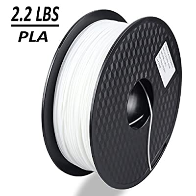 Dikale PLA 3D Printer Filament - 1KG(335m/1099ft) 1.75mm, Dimensional Accuracy +/- 0.02 mm, 1KG Spool 1.75 mm