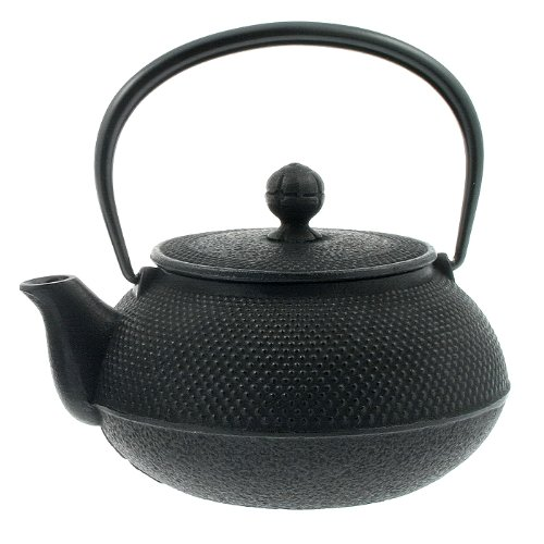 Iwachu 29-Ounce Japanese Iron Hobnail Tetsubin Teapot, Large, Black by Iwachu