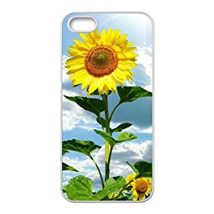 QSWHXN Diy Sunflower Selling Hard Back Case for Iphone 5 5g 5s