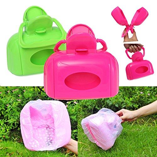 Case Scoop Pet (Portable Pet Dog Cat Waste Bag Case Pooper Scooper Poop Scoop Pickup Clip Easy Clean Tool)
