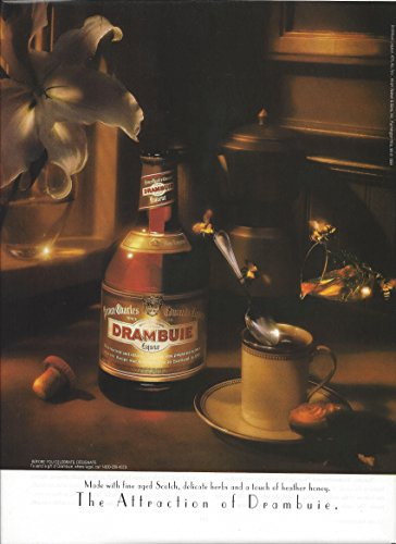 MAGAZINE ADVERTISEMENT For Drambuie Liqueur & Coffee White Flower (White Liqueur)