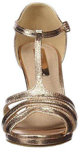 XTI 030568, Sandalias de Tacón Mujer Dorado (Nude)