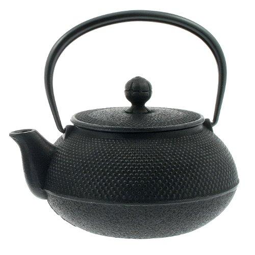 Iwachu 29-Ounce Japanese Iron Hobnail Tetsubin Teapot, Large, Black