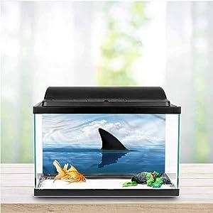 Stevenhome Shark Aquarium Photography Background Aggressive Hungry Fishes PVC Adhesive
