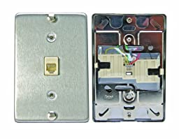 Leviton C0256-SS Telephone Wall Phone Wallplate Surface Mount Jack
