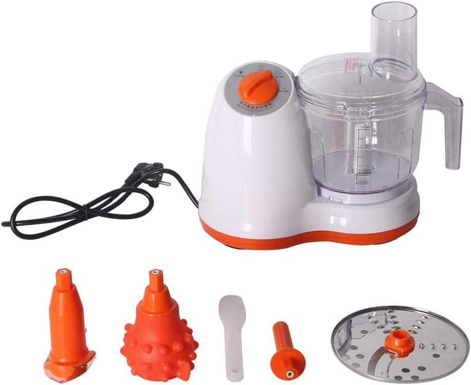 Procesador de alimentos eléctrico ultra silencioso de cocina con almohadilla deslizante - Cable de alimentación oculto y montaje antichoque, cortador de verduras multifunción, estable, seguro: Amazon.es: Hogar