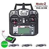 XTD Flysky FS-i6X 10CH 2.4GHz AFHDS 2A RC Transmitter with FS-iA10B Receiver Remote Control for RC Airplane Car Boat